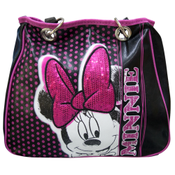 Minnie Mouse glitter disney borsa nera