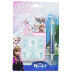 Frozen disney penna + block notes in confezione