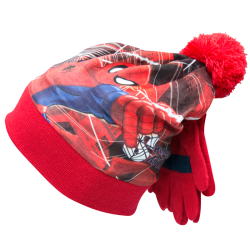 Cappello con pon pon e guanti Spiderman Marvel