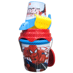 Secchiello con accessori mare Spiderman marvel