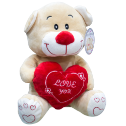 Orsacchiotto peluche con cuore Love you